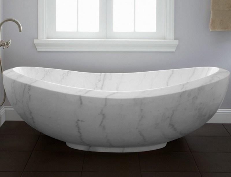 Blanca de piedra de mrmol Bao Baera de hidromasaje para