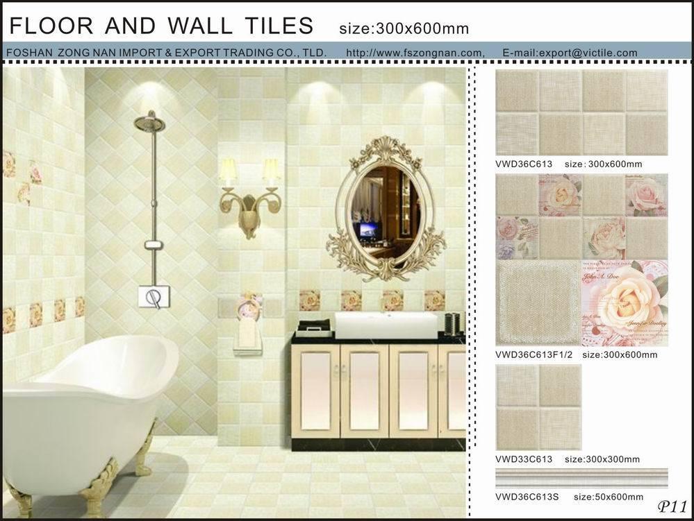 300x600mm Plancher De La Cuisine Et Le Mur En Carreaux De Ceramique Vwd36c613 Photo Sur Fr Made In China Com