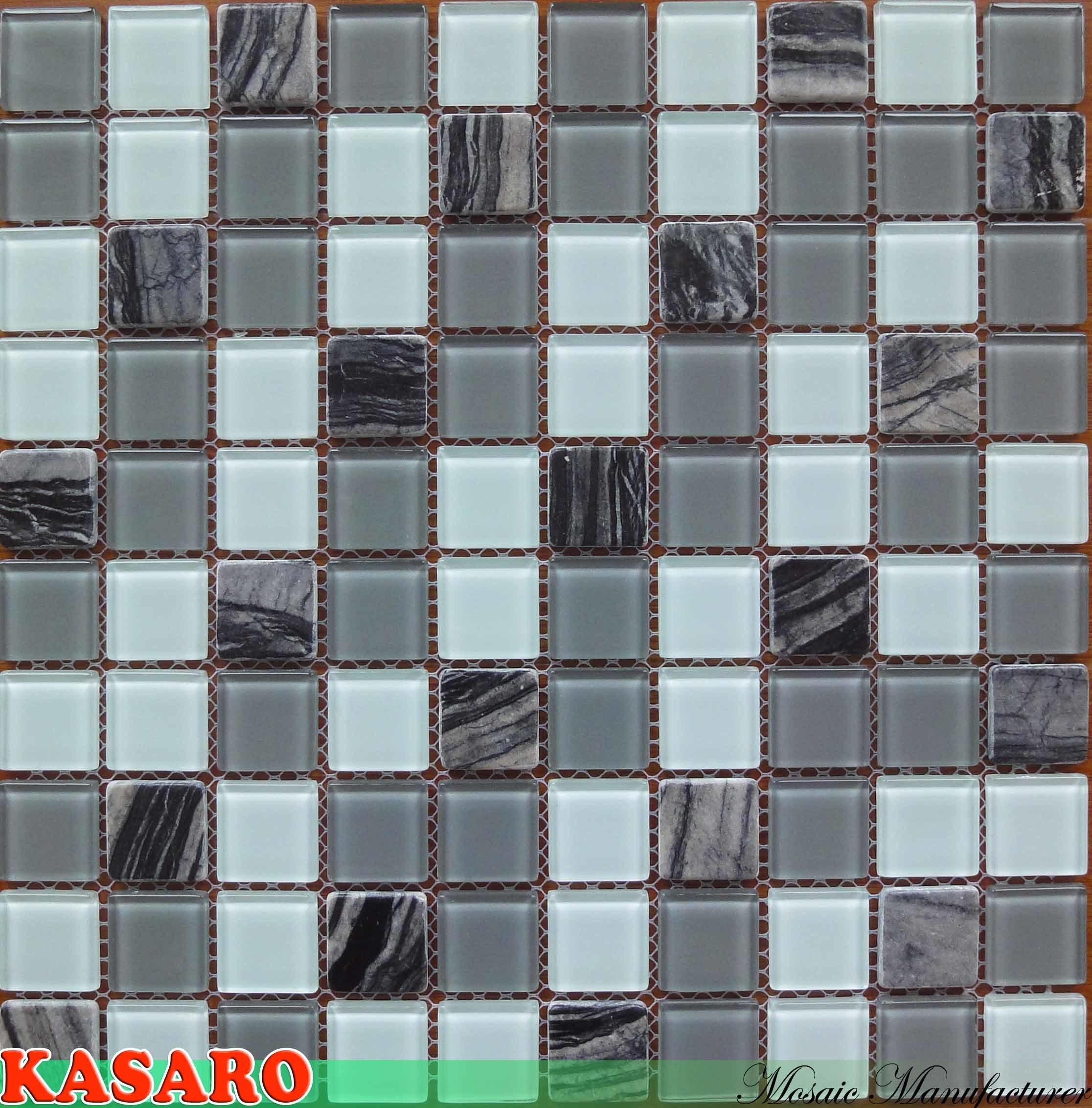 Piastrelle mosaico adesive piastrella adesiva d green stile