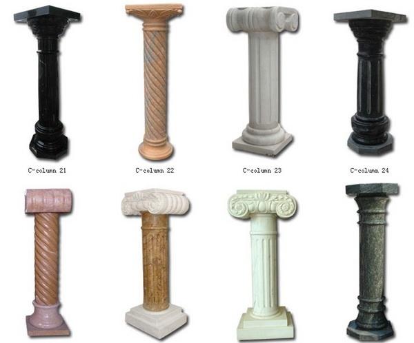 Cilindro greco di marmo colonne di marmo colonna romana del granito  Cilindro greco di marmo