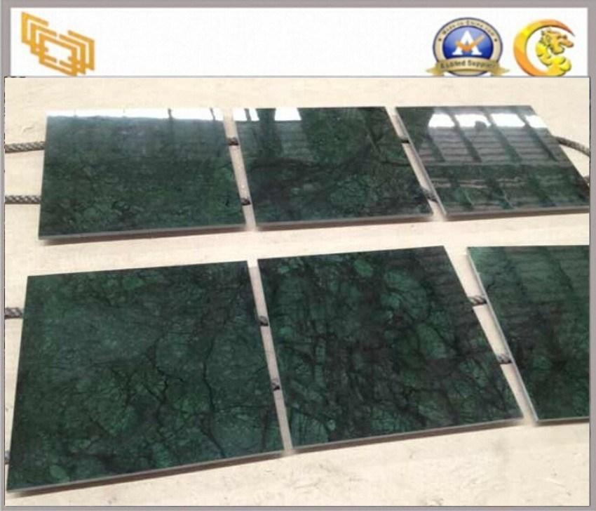 Azulejos de mrmol verde oscuro Polished para el piso y la pared  Azulejos de mrmol verde oscuro Polished para el piso y la pared