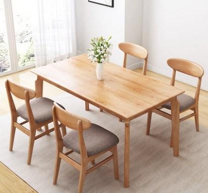 manger en bois table chaise
