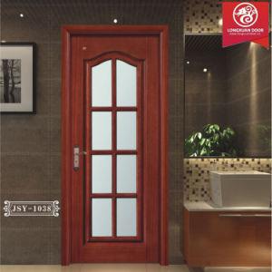 wood glass pre hung door solid wood frame and temper double glass doors quality kitchen doors or bathroom doors or reading room doors