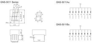 China 0.5 Inch 1 Digit 7 Segment Display (GNS-5011Ax-Bx