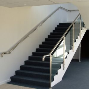 China Modern Handrail Design Indoor Stainless Steel Railing Glass | Modern Stair Rails Indoor | Beautiful | Unique Fancy Stair | Wooden | Industrial | Flat Bar
