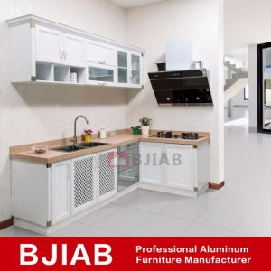 aluminum kitchen cabinets black trash bags china white oak modern metal home furniture cabinet