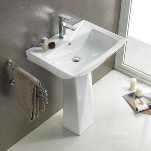 new design bathroom free standing pedestal wash basin sinks