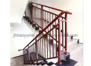 China Powder Coated Steel Balustrade Steel Stair Rail China | Powder Coated Handrails For Stairs | Ornamental Iron | Metal | Deck Railing | Wrought Iron Balusters | Balcony
