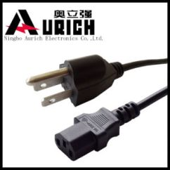 Usa Plug Wiring Diagram 1999 Jeep Grand Cherokee Power Window 3 Pronged Free For You China Electrical Cord Nema Type Prong Rh Aurich Powercord En Made In Com Brass And Silver Screws