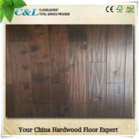 C&L Dark Brown Color Chinese Teak Solid Wood Flooring