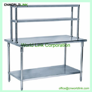 kitchen work tables cabinets to go china good selling stainless steel with under shelf