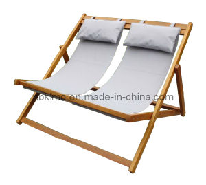 portable beach chair evergreen revolving china wooden double deck with pillow 10083d