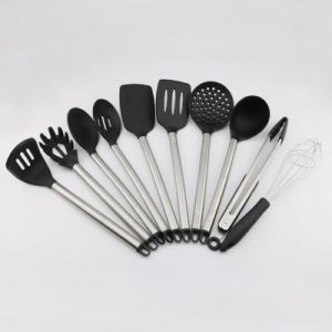 kitchen utensil sets www elkay com sinks china amazon hot sell food grade stainless steel handle silicone basic info