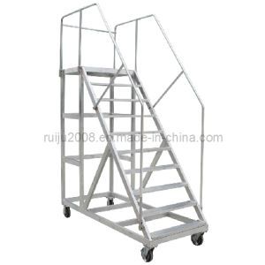 China Aluminum Mobile Platform Ladder for Auxiliary