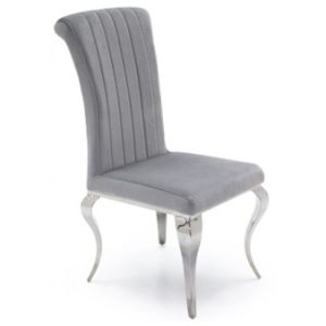 french velvet chair walmart booster china hot louis chrome modern dining room