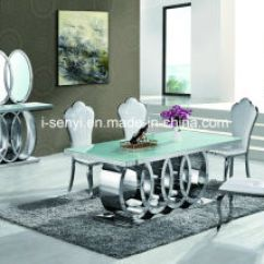 Stainless Steel Kitchen Table Storage Pantry Cabinet China Modern Audi Marble Top Tempered Glass Dining