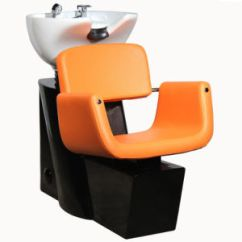 Orange Chair Salon Small Red China Shampoo Unit With Faucet Hair Washing 2017