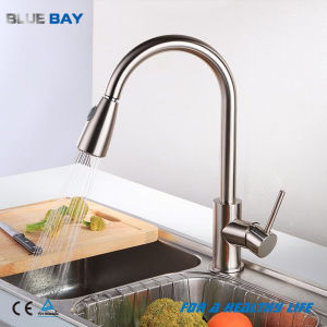 brushed nickel kitchen faucet with sprayer pendant lights china pull out spray mixer tap