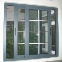 China Aluminium Sliding Glass Windows with White Grills ...