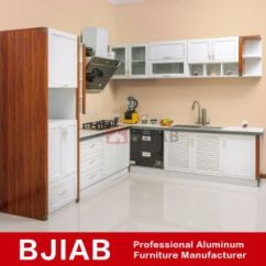 Aluminum Kitchen Cabinets Stainless China White And Golden Oak Modern Metal Furniture Cabinet