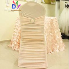 Chair Covers Direct From China Banquet Cheap Factory Sales Wedding Egglant Ruffle Spandex Lycra Cover