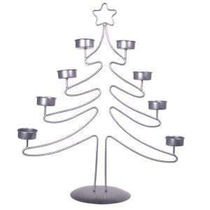 China Christmas Tree Metal Wire Votive 6 Tea Light Candle