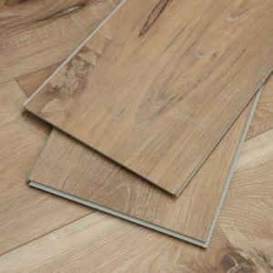 wood look flexible anti fire waterproof luxury vinyl plank loose lay floor tile
