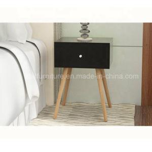 solid wood legs wood nightstand modern
