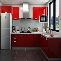 China 2015 Modern Kitchen Designs/Kitchen Furniture/ Red ...