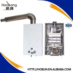 cheap price 10l balance exhaust type tankless gas water heater with knob control for russia georgia ukraine