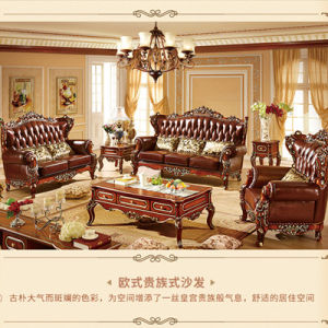 wood frame leather sofas sofa chester barato madrid china european style solid combination