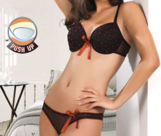 Sexy Girl Bra Underwear Set Lady Lingerie Set With Bowknot