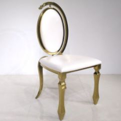 Steel Chair Gold White Wooden Kitchen Chairs China New Design Hotel Furniture Golden Events Used Dining Stainless In Oval Egg Back