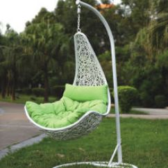 Hanging Chair Swing Pottery Barn Covers China Patio Leisure Thick Rattan Hammock With Cushion Iron Support Hang