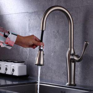 long handle high quality upc spray head three way kitchen faucet