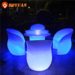 Led Table And Chairs Hybrid Walker Transport Chair China High Quality Pe Plastic Infrared Remote Control Bar Furniture