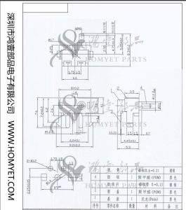 China DIP Type 2pin Square Reset Switch/Side Push Button