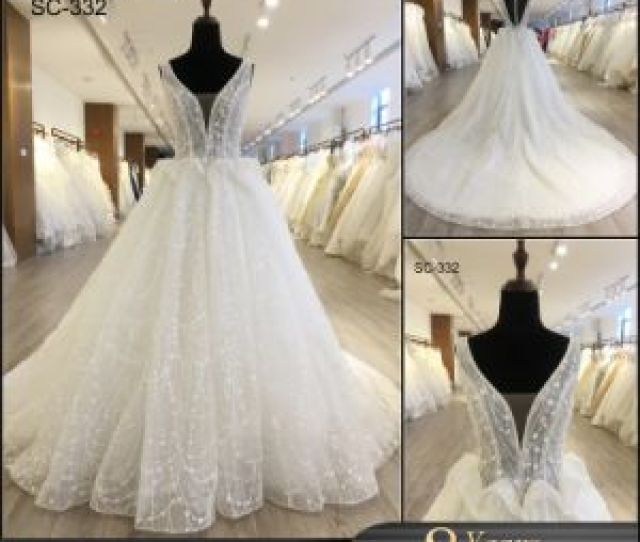 Long Tail Ball Bridal Gown Wedding Party Dress With Sleeves