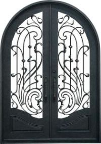 China 2016 Round Top Best Selling Wrought Iron Front Entry ...
