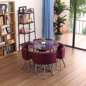 China 2020 Hot Sale New Cheap Dining Table Chair Sets Wholesale Dining Room Furniture Leather Chair High Quality Dining Table Sets China Dining Table Design Dining Table And Chair Sets