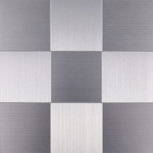 stainless steel peel and stick mosaic tiles backsplash on wall for kitchen