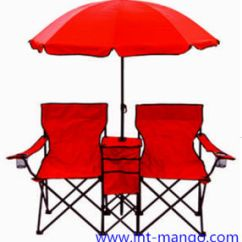 Double Seat Folding Chair Herman Miller Fiberglass China Seats Beach With Umbrella Mw11008a