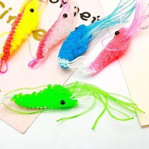 Plastic Tube Hand Knitted Lobster Keyring Shrimp Keychain
