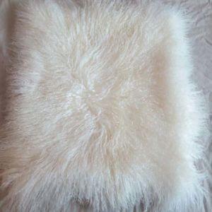 real natural white mongolian lamb fur pillow cover decorative cushion covers