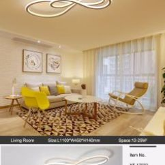 Ceiling Light Fixtures For Living Room Table And Chairs China Fashion Double Glow Modern Led Lights Bedroom Lamparas De Techo Dimming