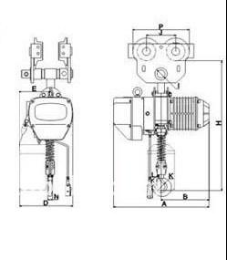 Wiring Diagram Mini Electric Hoist Electric Motor Diagram