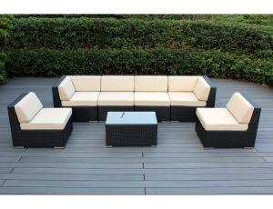 7 piece outdoor patio furniture pe rattan sectional sofa set