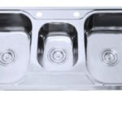 Triple Kitchen Sink Herb Kit China Bowl Top Mounted Stainless Steel D40 3