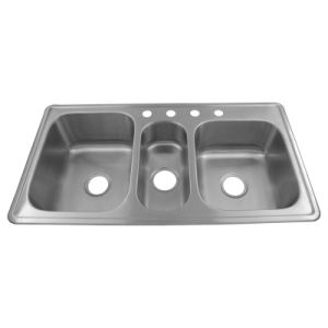 triple kitchen sink 8 inch cabinet china stainless steel h06
