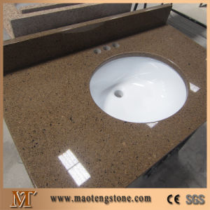 China Multicolor Artificial Quartz Bathroom Vanity Tops With Oval Ceramic Sinks China Quartz Bathroom Vanity Tops Countertop